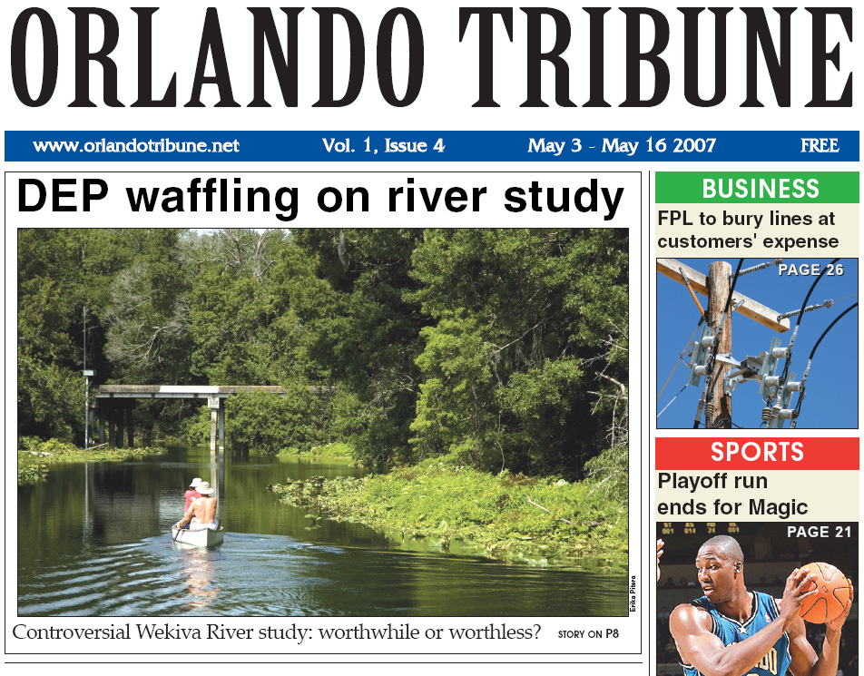 Orlando Tribune - Wekiva Study 1 2007 Gavin P Smith