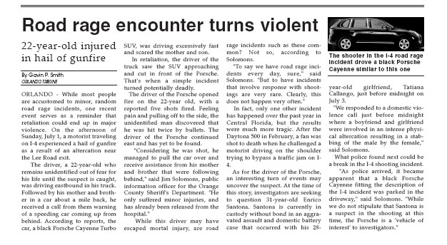 Orlando Tribune - Road Rage 2007 - Gavin P Smith
