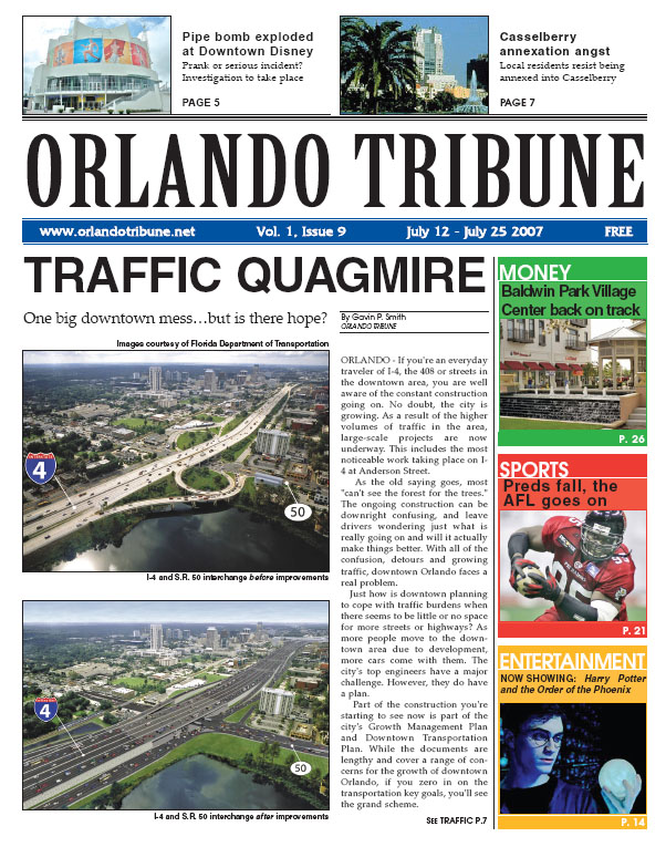 Orlando Tribune Traffic Quagmire 2007 1