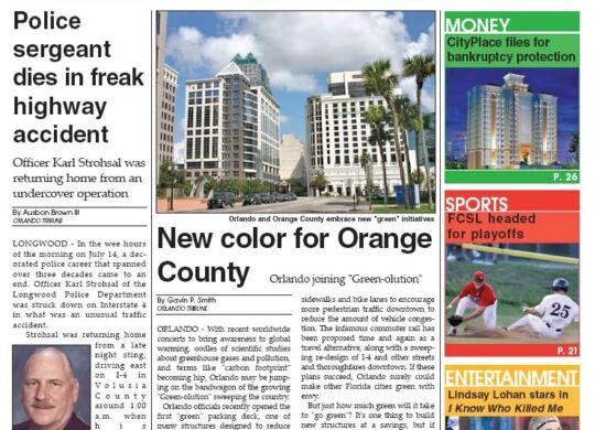 Orlando Tribune - Greenolution Cover Story 2007