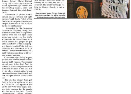 Orlando Tribune - Red Light Sign 2007 - Gavin P Smith