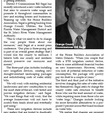 Orlando Tribune - New Water Initiative 2007 - Gavin P Smith