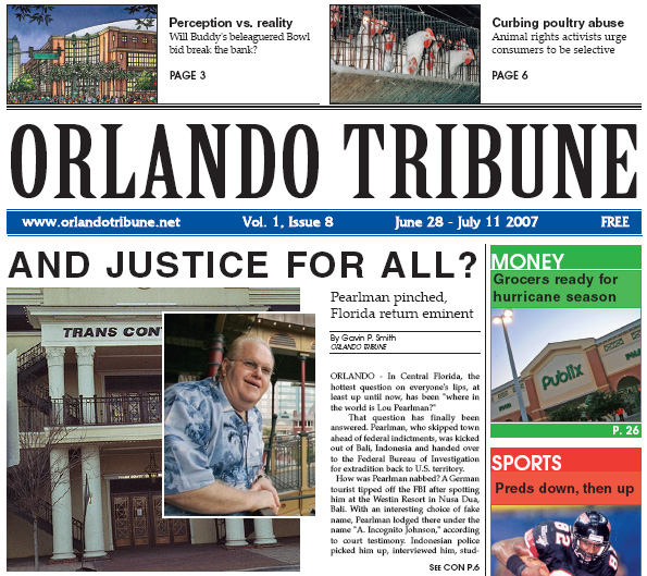 Orlando Tribune Lou Pearlman 1 2007 Gavin P Smith