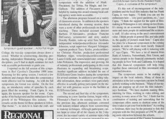 1999 NC Cinema Symposium - Wilmington, NC