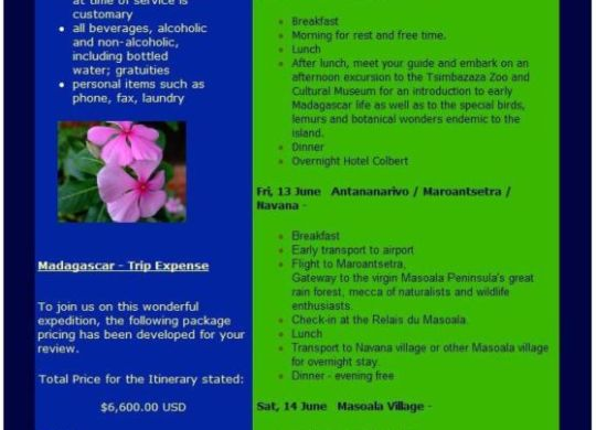 Madagascar Newsletter