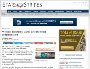 CivilianExposure.org featured in Stars & Stripes – 9-23-2014
