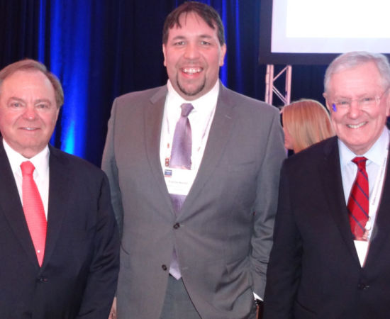 Gavin P Smith with Harold Hamm and Steve Forbes 3-12-15 Forbes Reinventing America Summit