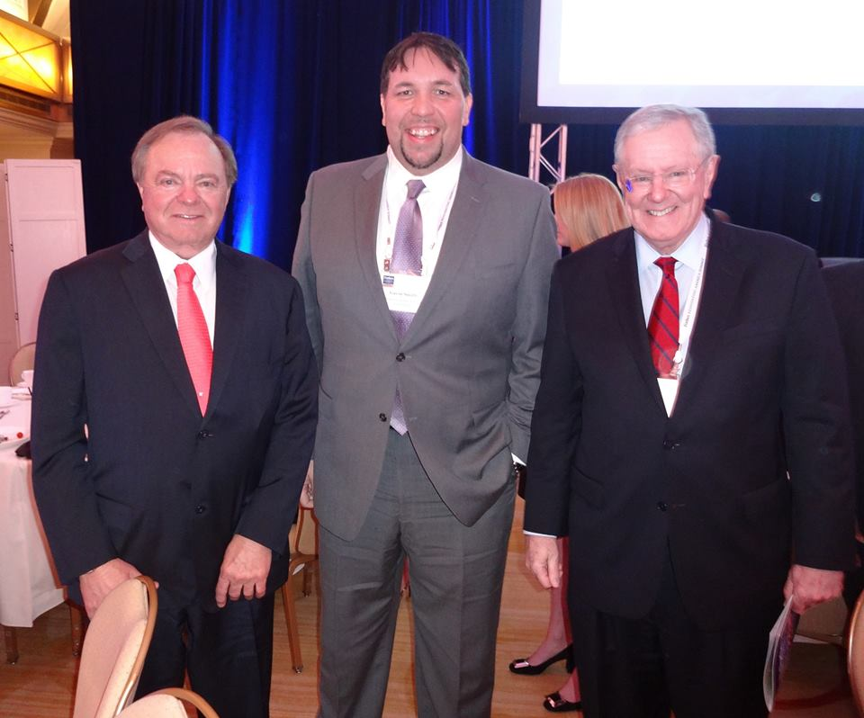 Gavin P Smith with Harold Hamm and Steve Forbes in Chicago - March 2015